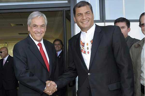 Piñera cuestiona postura peruana tras presentación de carta náutica de Ecuador